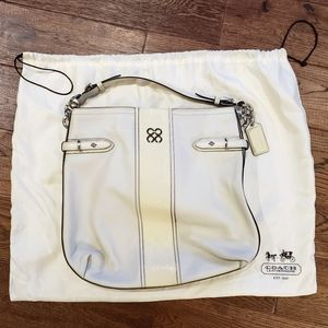 Coach White Leather Hobo Bag